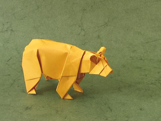 Origami Bear Diagram Origami Bear by Stephen Weiss