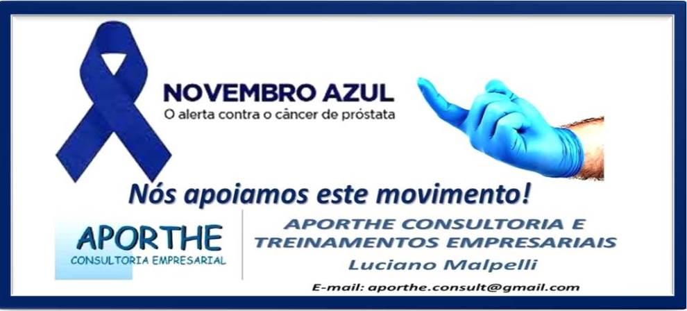 Novembro Azul 2015! A Aporthe Consultoria Apoia este Movimento!