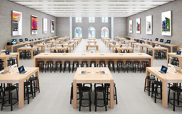 helsinki design alvar aalto barhocker in apple stores. Black Bedroom Furniture Sets. Home Design Ideas
