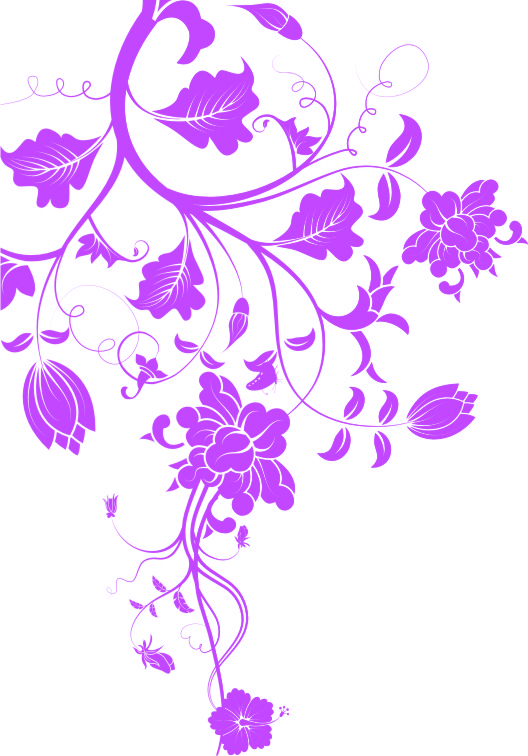Swirly Ornamen Vector Bunga 3