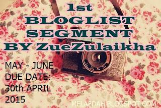 1st Bloglist Segment by ZueZulaikha