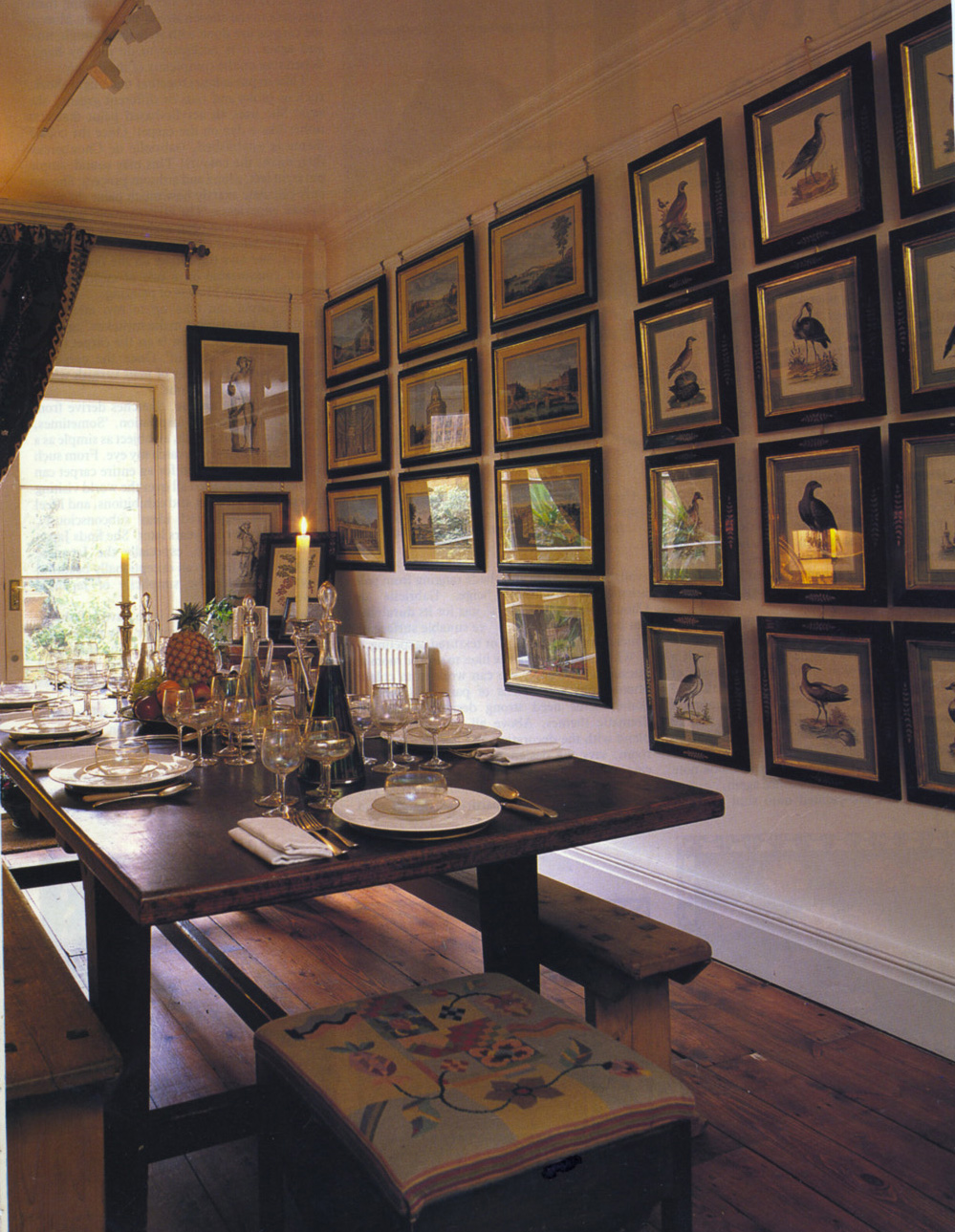 Julia boston antiques dealer decorating with antique for Dining room posters