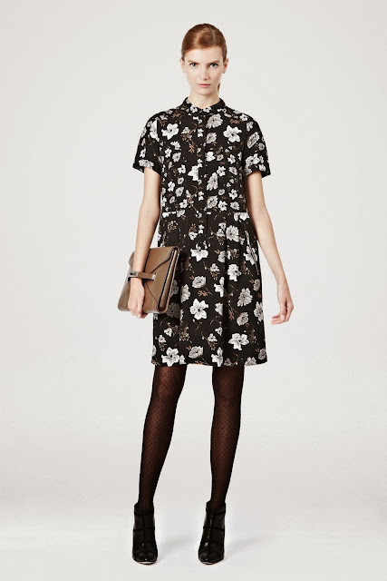 floral shirt dress, french connection dress