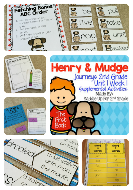 Henry and Mudge The First Book Supplemental Activities Journeys 2nd Grade