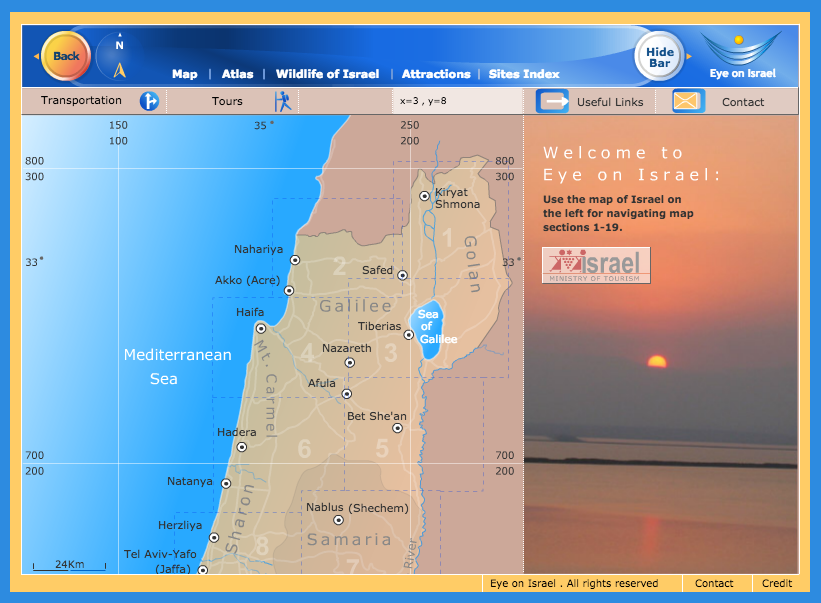 Interactive Map of Israel