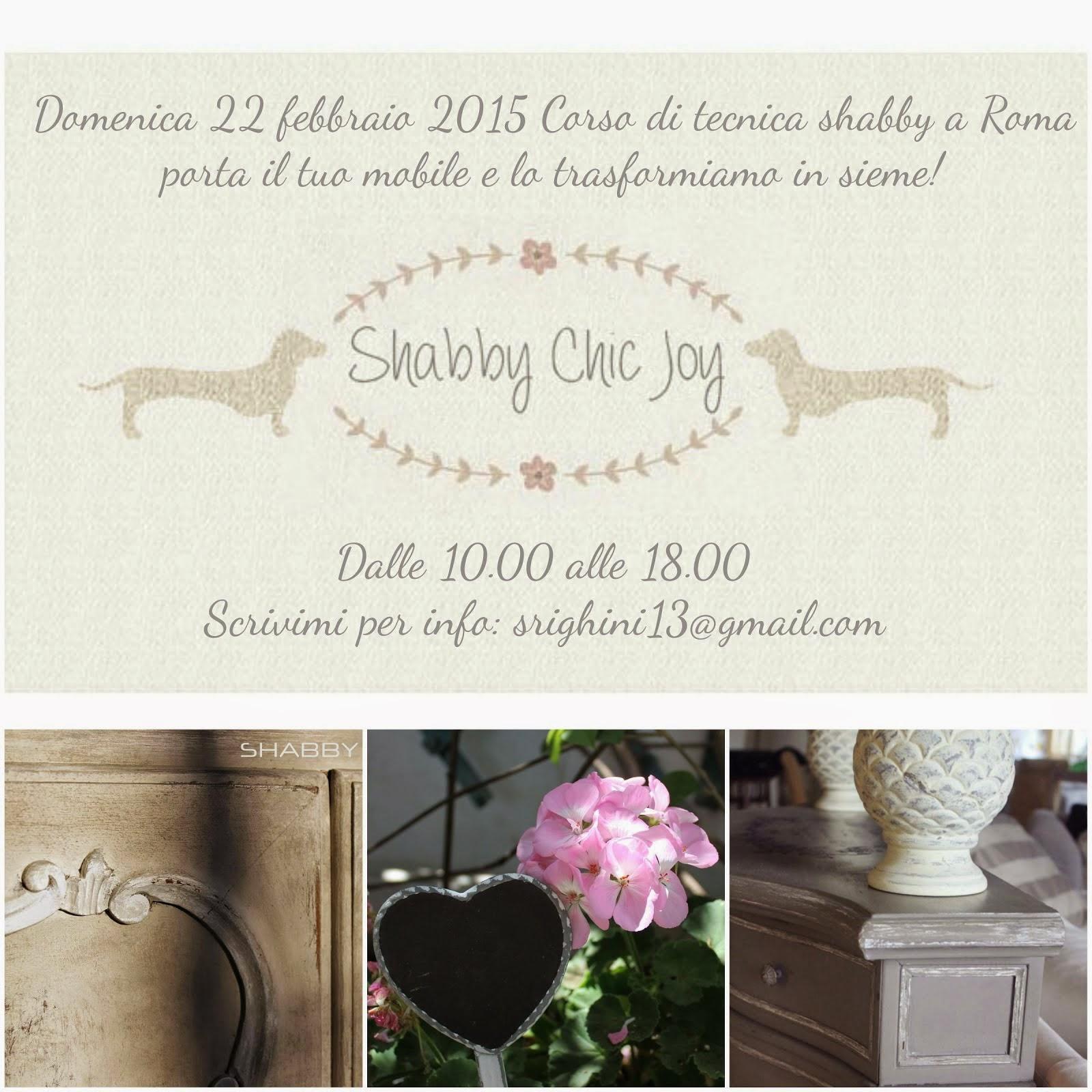 Corso di tecnica shabby a Roma - San Giovanni 28 febbraio