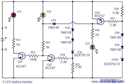 Diagram Ingram Circuit 3 Led Battery Monitor
