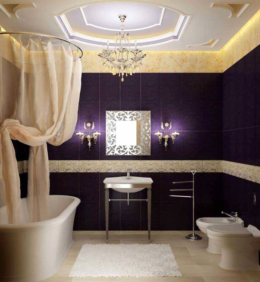 Pictures of purple bathrooms