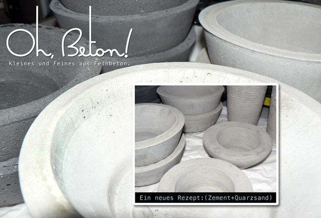DIY Beton Schalen, Zementschalen,