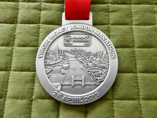 2015 London Marathon medal