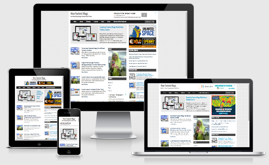 New Fastes Magz V2 - SEO Fast Load Blogger Template