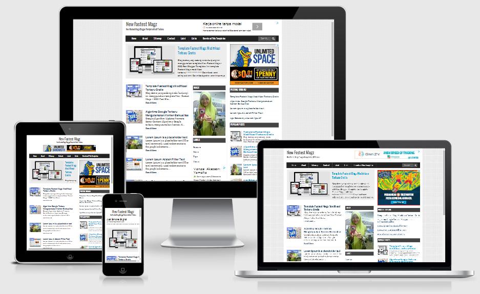 New Fastes Magz V2 - SEO Fast Load Blogger Template