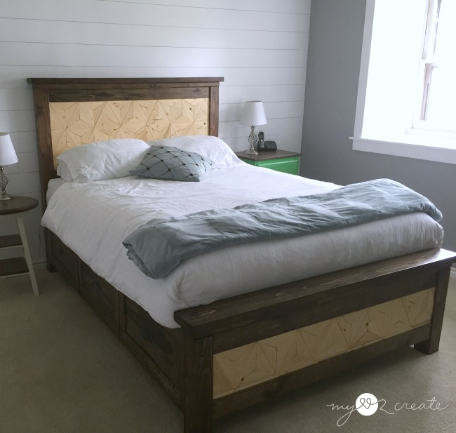Top 10 projects of 2015 my love 2 create for Farmhouse bed plans