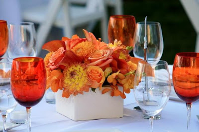 orange wedding centerpiece ideas
