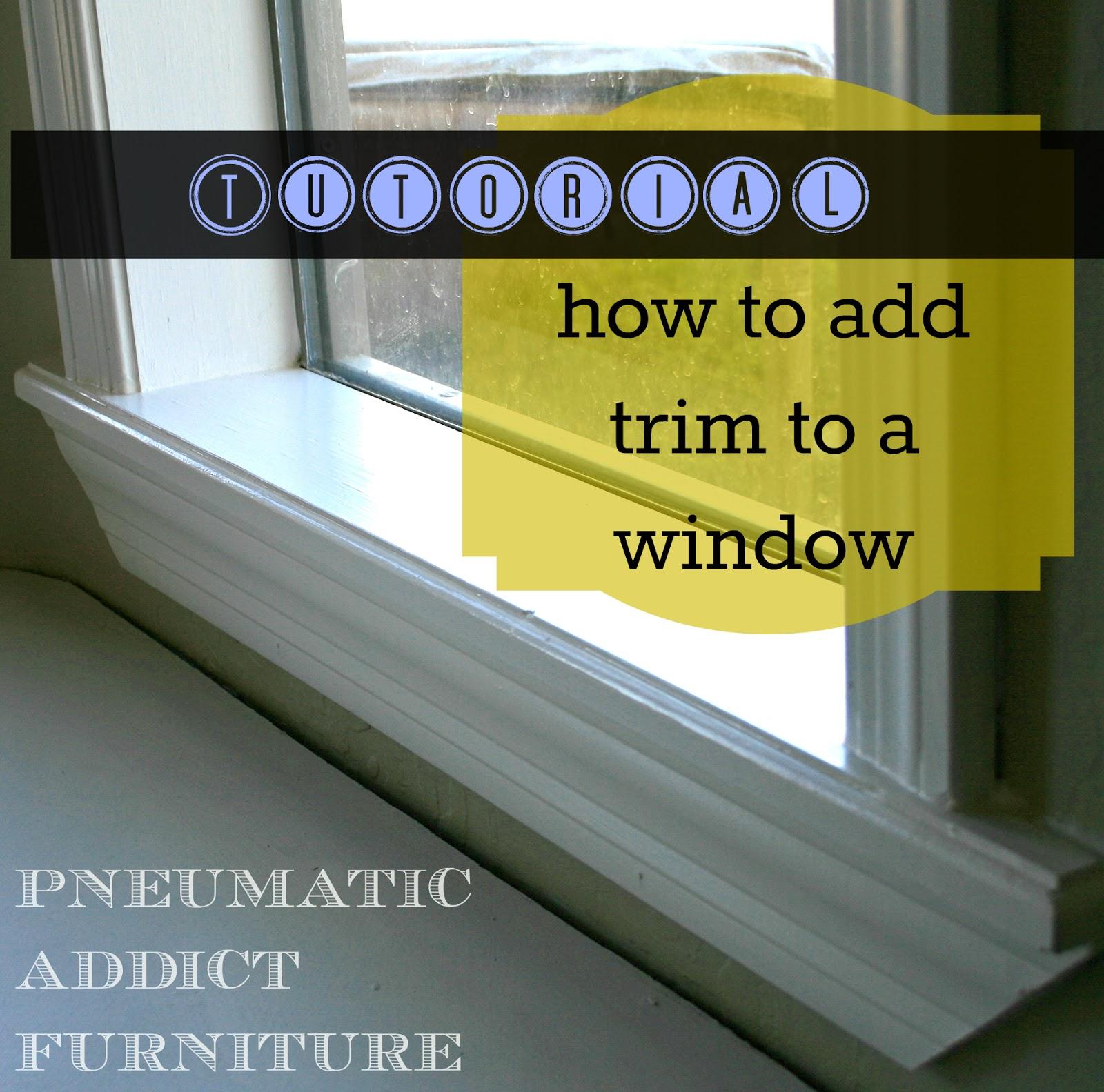 Diy interior window trim - Putting On Eyeliner Diy Window Trim
