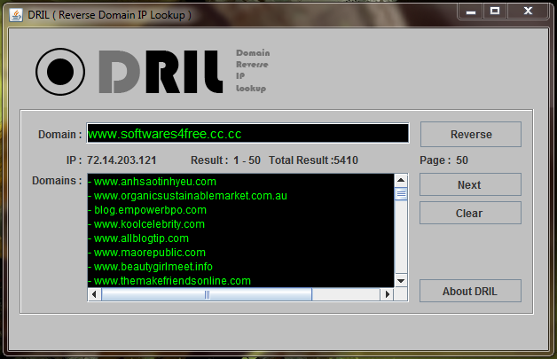 Domain Reverse IP Lookup Tool