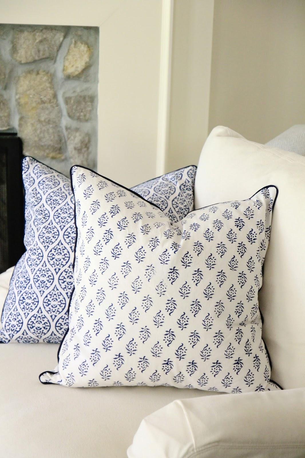 Jenny Steffens Hobick: Indigo Woodblock Print Napkins & Pillows ...