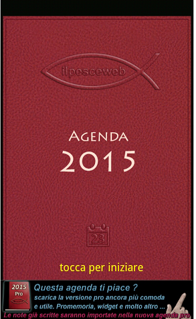 Agenda 2015: agenda digitale che ricalca fedelmente quella cartacea
