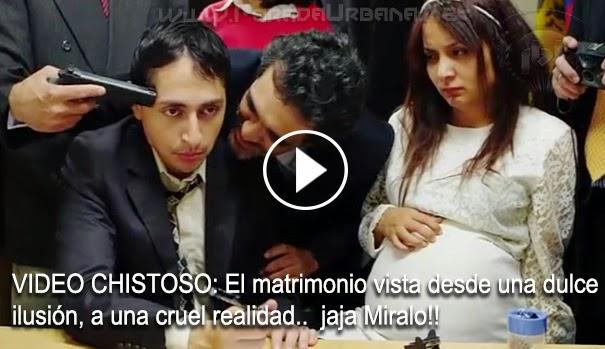 VIDEO CHISTOSO - El matrimonio vista desde una dulce ilusión a una cruel realidad