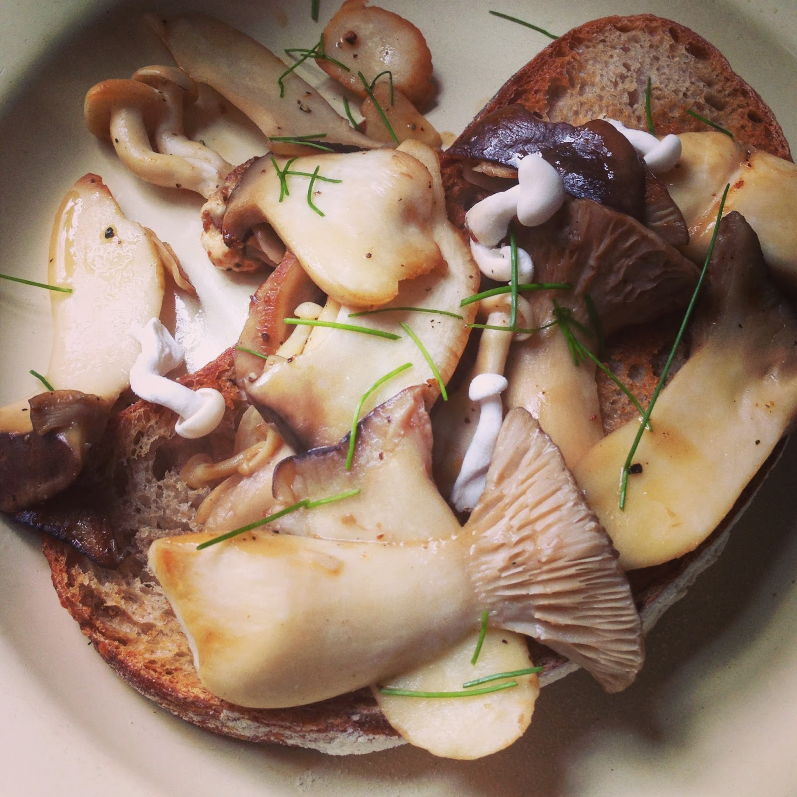 Deviled Mushrooms On Toast Recipe — Dishmaps
