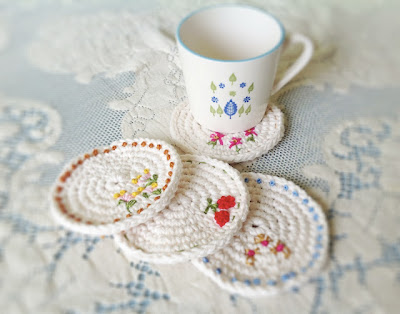 free crochet pattern spring coasters