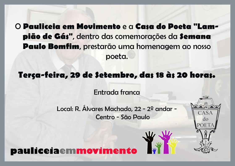 Homenagem a Paulo Bomfim 29 /09/2015