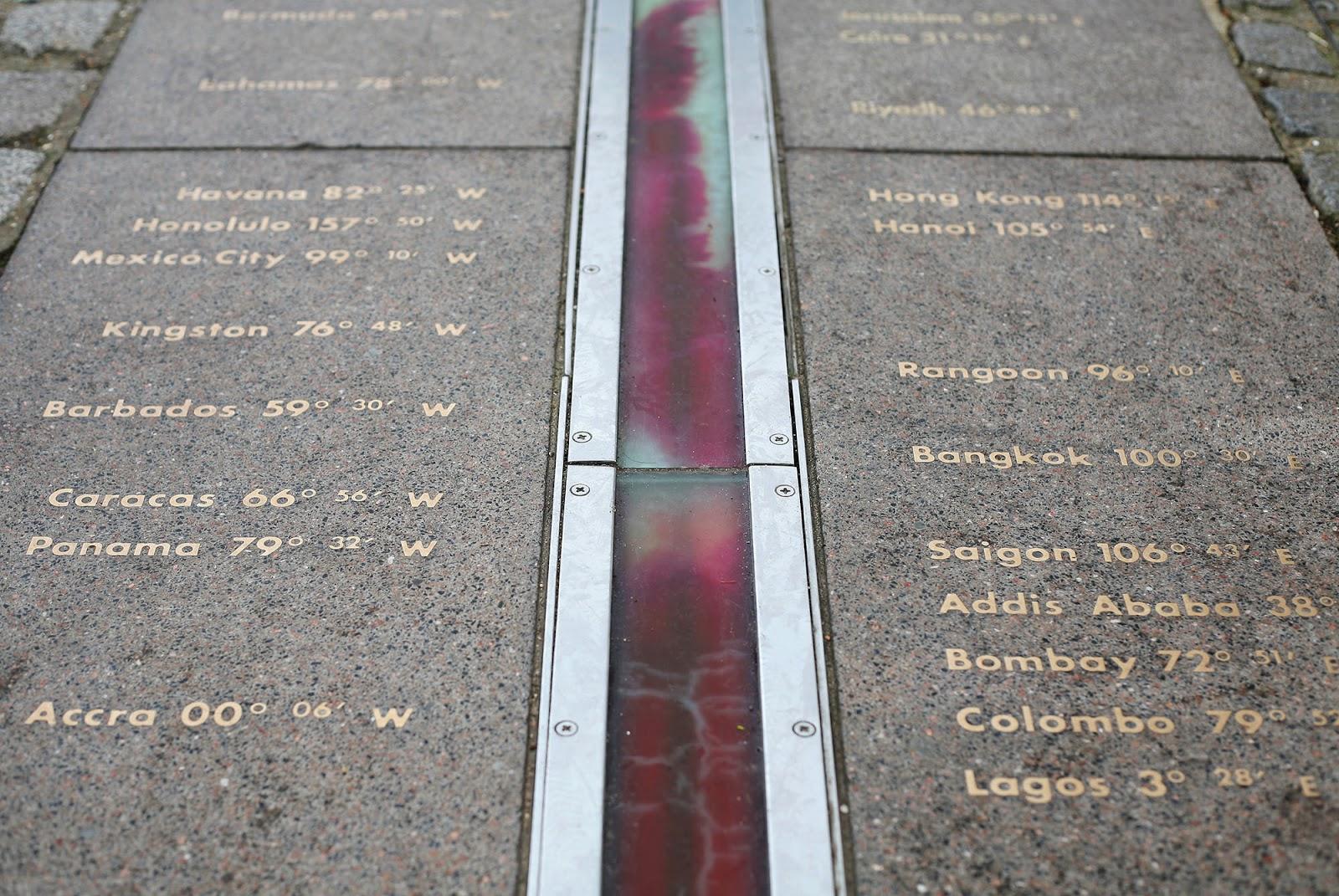 Greenwich Meridian, London, UK