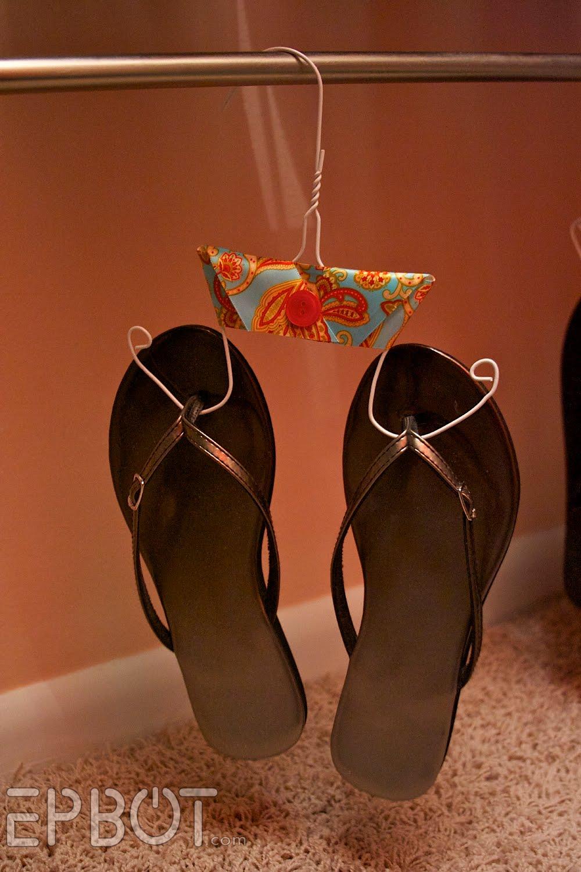 Flip-flop sandal hangers.