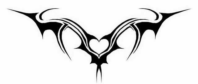 Lower back heart tattoo stencil