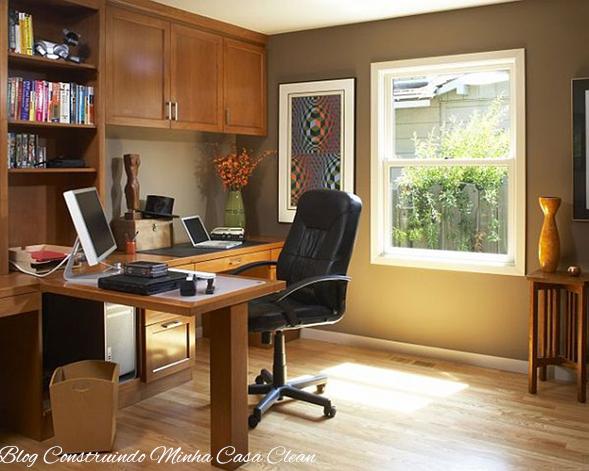 Construindo Minha Casa Clean Home Office E Escrit Rios
