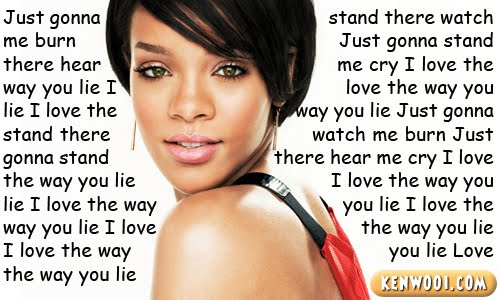 rihanna love the way you lie