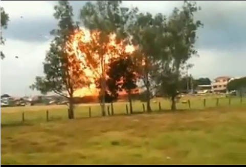Truck With LPG Tank Explodes In Cavite