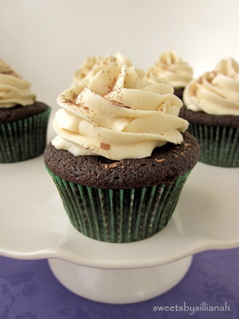 Chocolate Stout Bailey's Irish Cream Cupcakes {+ Giveaway}