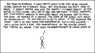 xkcd | Why I am silent about climate change