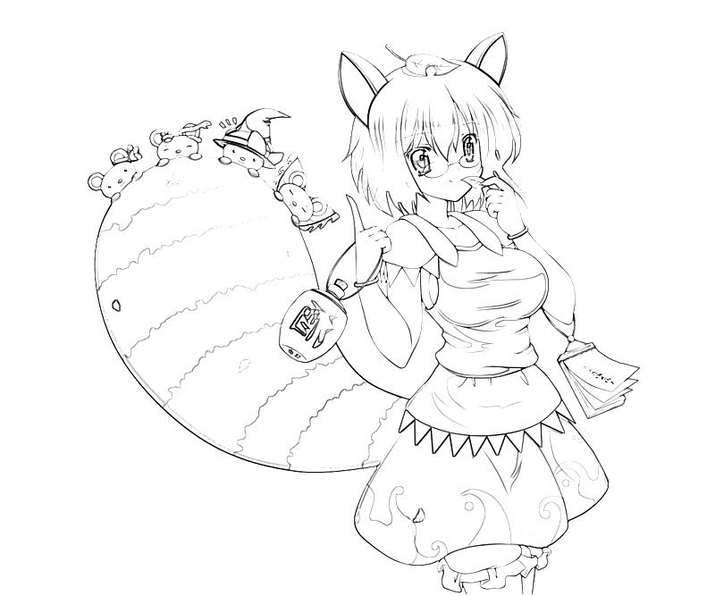printable-mamizou-futatsuiwa-character-coloring-pages