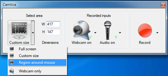 Camtica screen recorder fully professional desktop screen for Window recorder