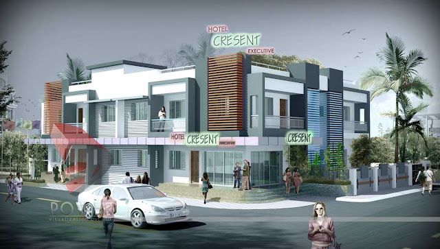 3d Executive Hotel Design, 3d animation of hotel building