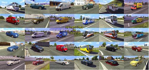 ETS2 Mod - Pack de Carros Para o Tráfego V.4.1 Para V.1.26.X By: Jazzycat