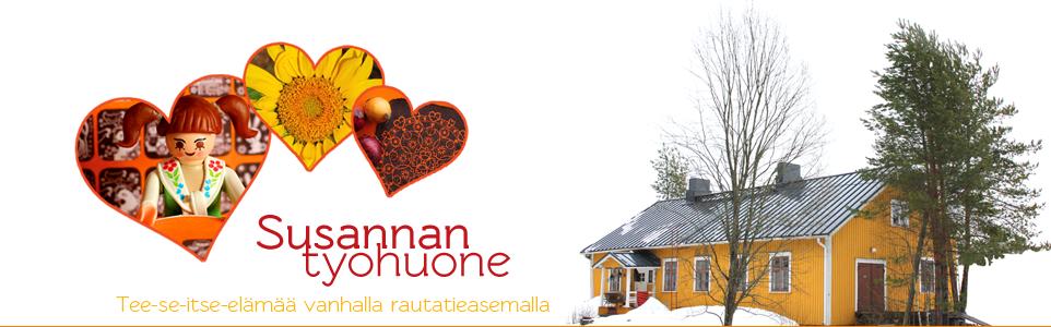 Susannan Työhuone - Tee-se-itse-elämää vanhalla rautatieasemalla