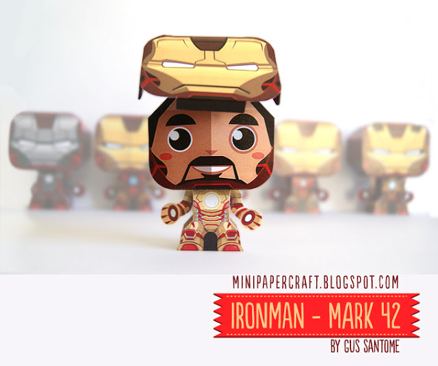 Mini iron man mark 42 papercraft papercraft paradise - Mini iron man ...