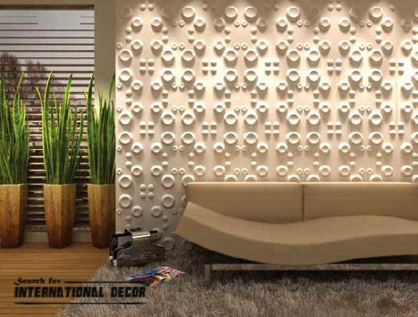Decorative Wall Treatments : Decorative wall panels in the interior latest trends