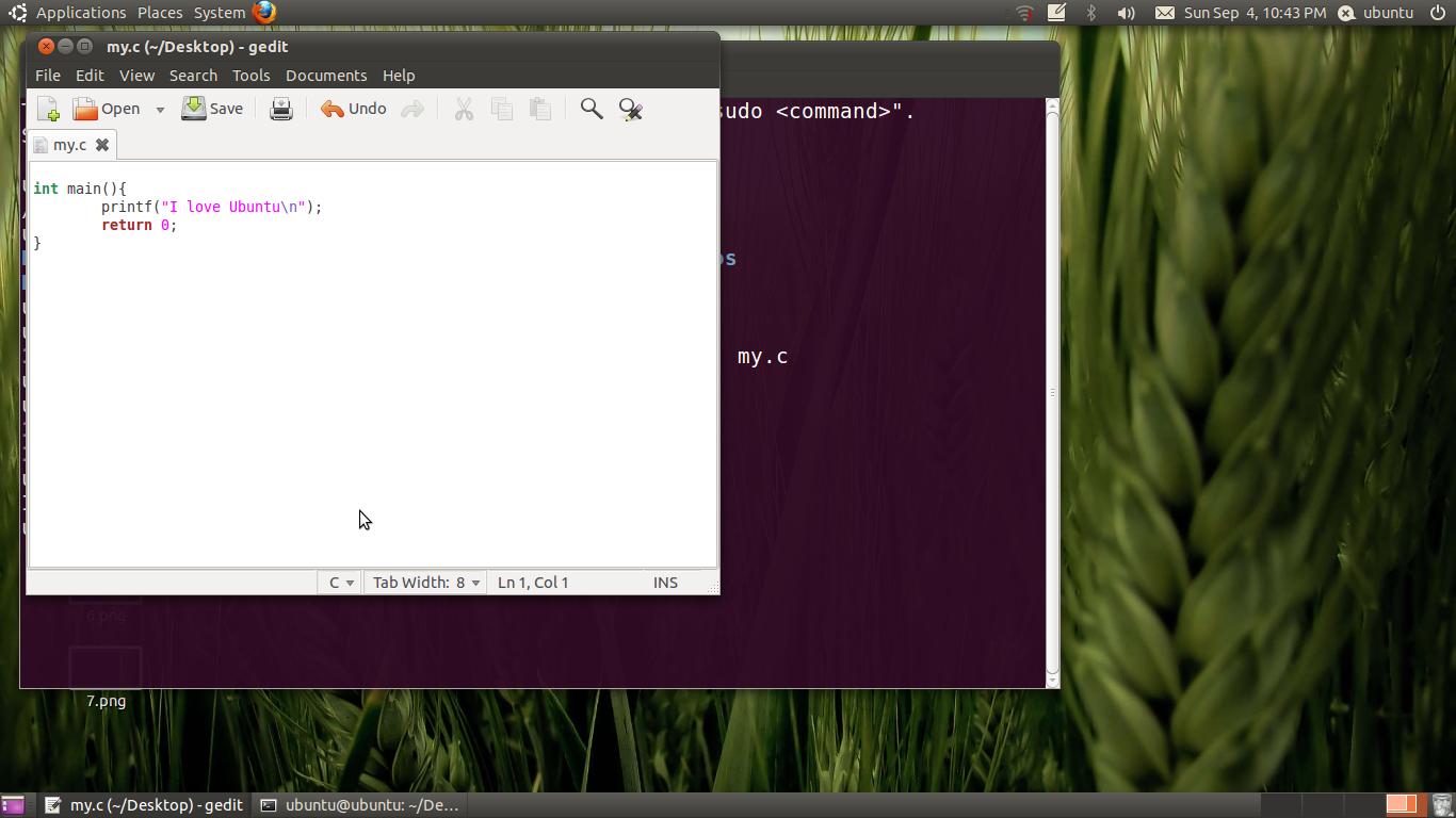 how to run c source code in ubuntu