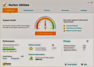 Symantec Norton Utilities 16.0.2.14 to Cleans up, tunes up and speeds up your PC