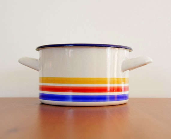 Enamel vintage pot
