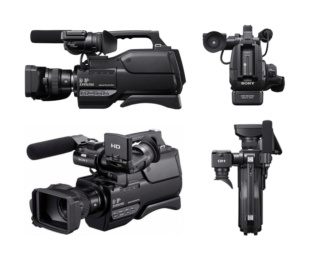 Di sini kami menggunakan kamera Sony HXR-MC 1500P Full HD