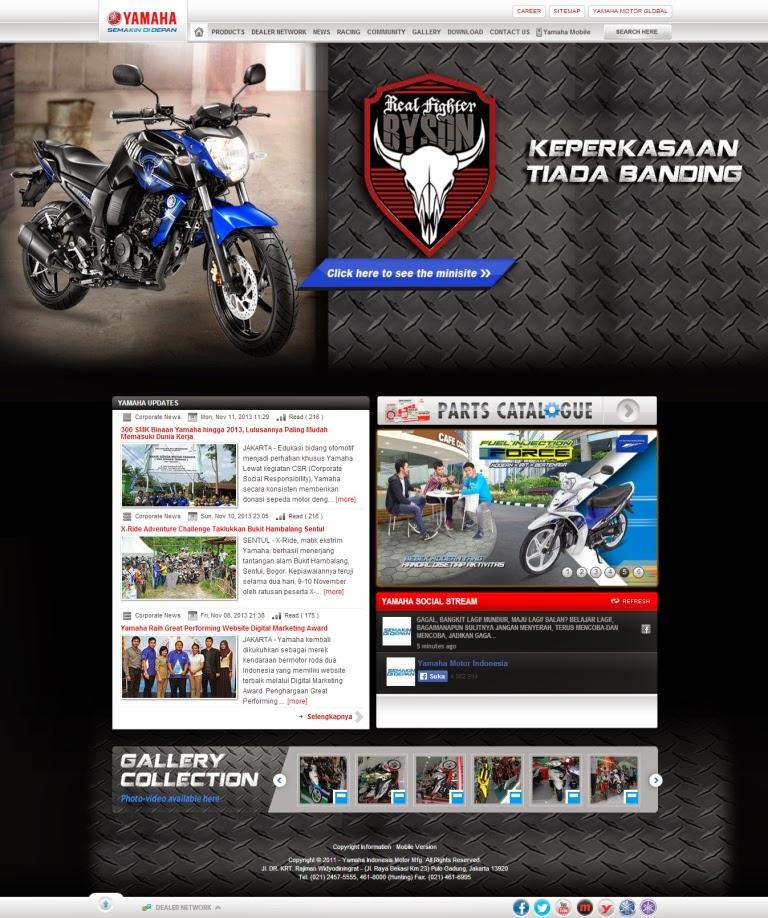 website yamaha indonesia raih penghargaan oprek motor