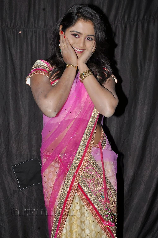 Young Actress Sirisha Half Saree Photo Shoot