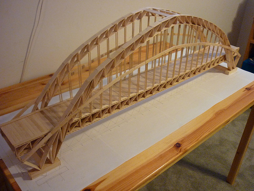Bridges Made Of Popsicle Sticks