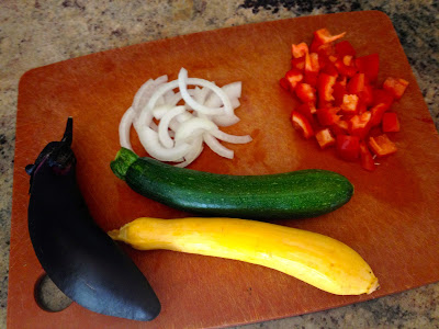 Ingredients for Summer Squash & Japanese Eggplant with Tapenade