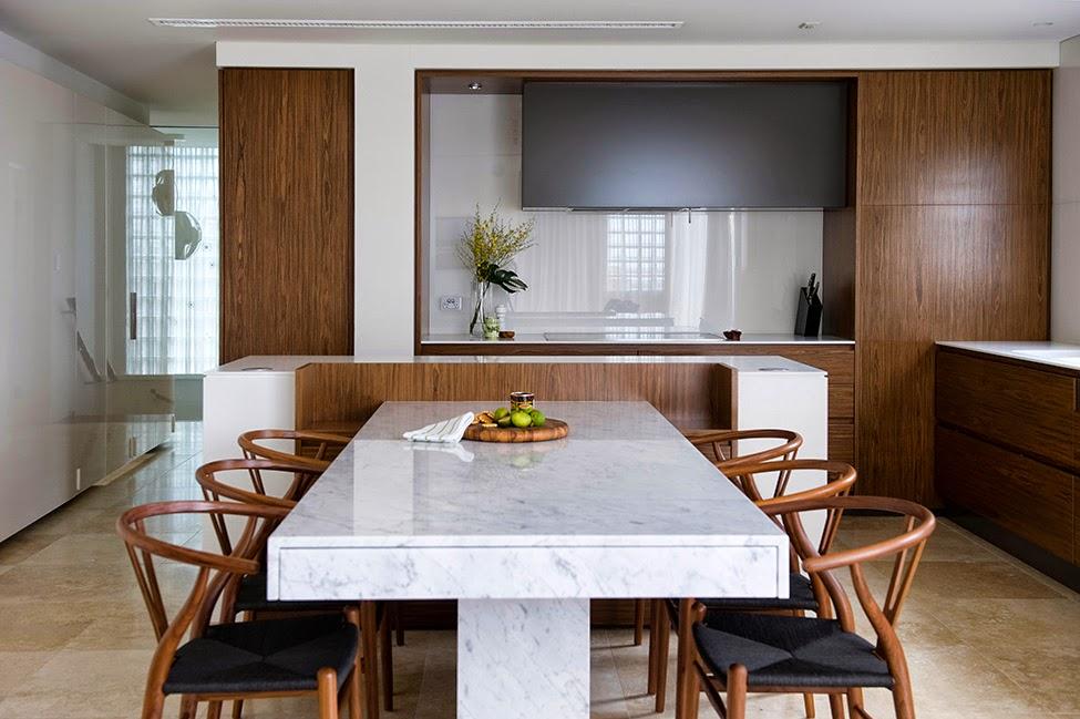 Дизайн гостиной, кухни и столовой от minosa